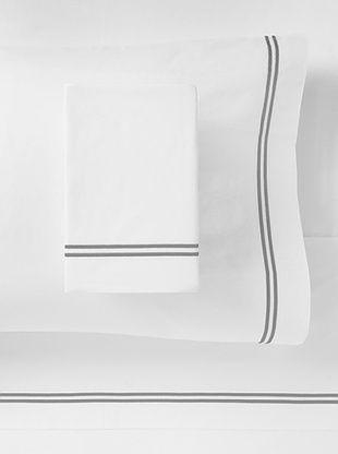 67% OFF Mason Street Textiles Two Cord Sheet Set (White/Grey)