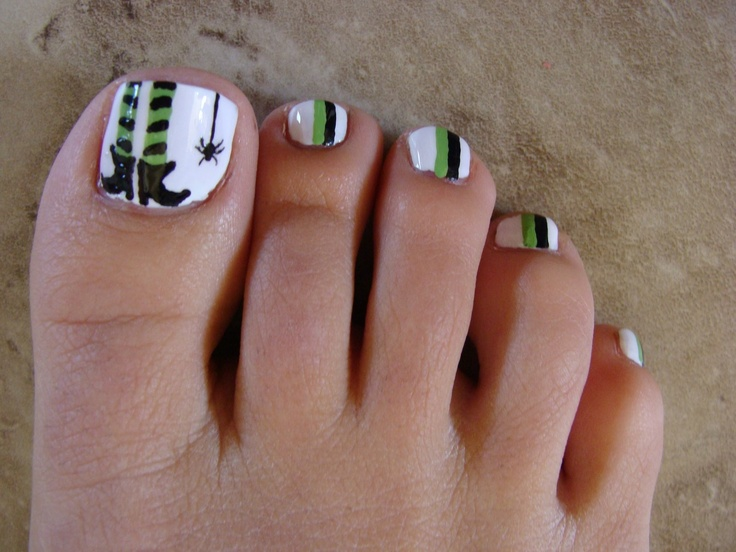 I love these Halloween toes! - Best 25+ Halloween Toes Ideas On Pinterest Halloween Toe Nails