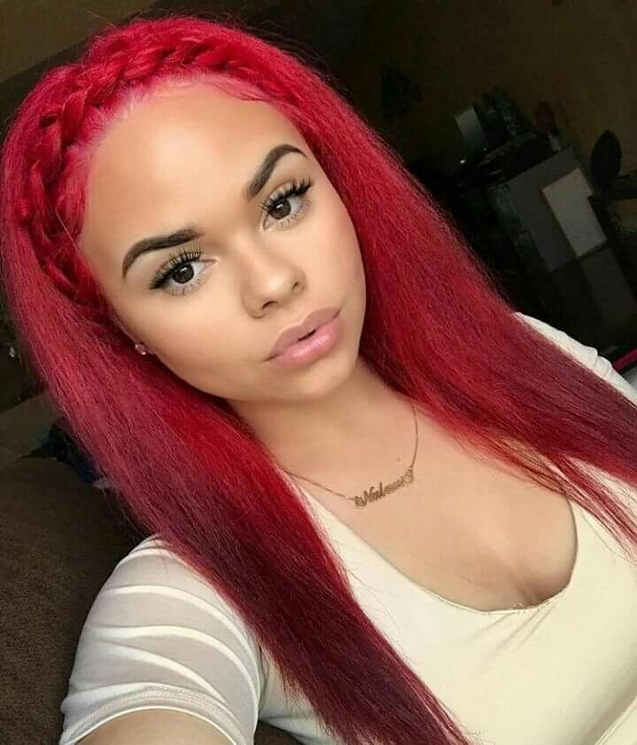 unique red weave hairstyles