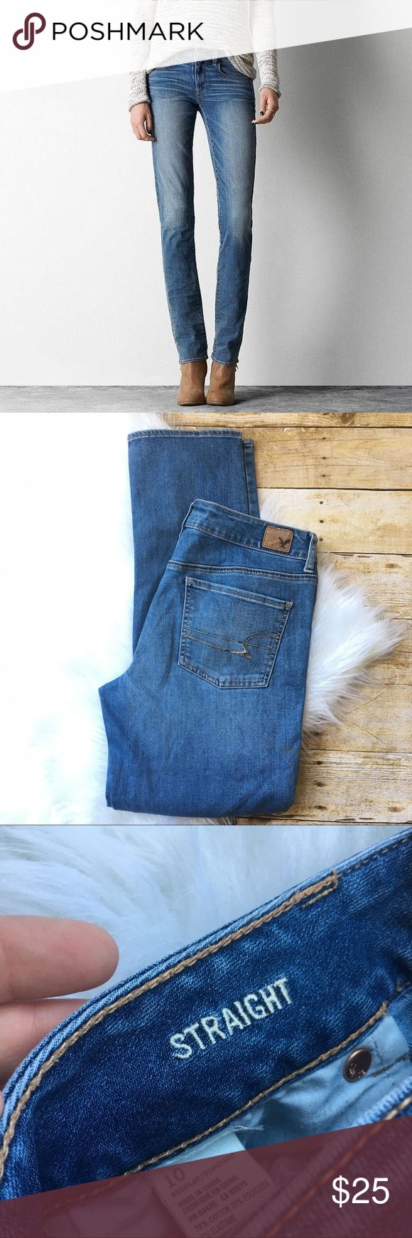 AEO straight leg jeans ✨new condition  ✨NO trades  ✨ask questions  ✨measurements upon request  ✨ships in 24 hours ✨thank you for shopping in my closet American Eagle Outfitters Jeans Straight Leg