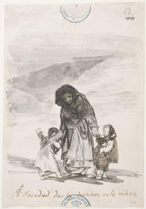 Goya en El Prado: ¡Que Necedad! darles destinos en la niñez