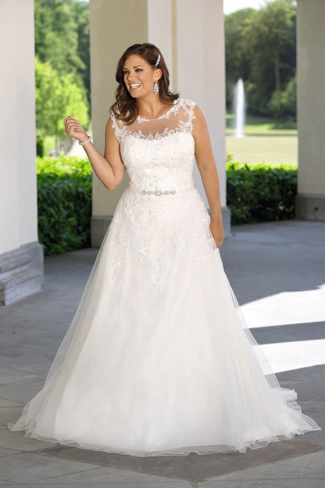 Für bilder brautkleider mollige Brautkleider in