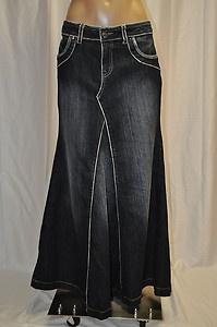 top 25 ideas about floor length denim skirts on