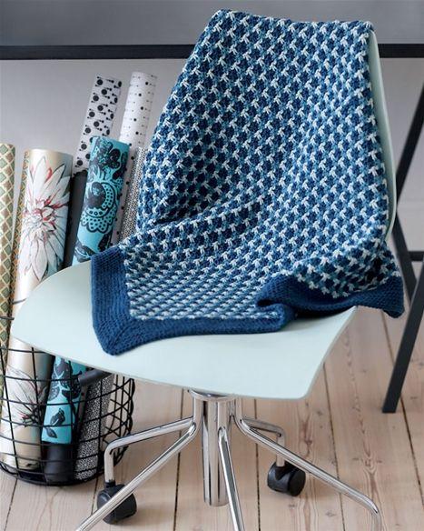 Strik selv: Lille tæppe i vævestrik - Hendes Verden