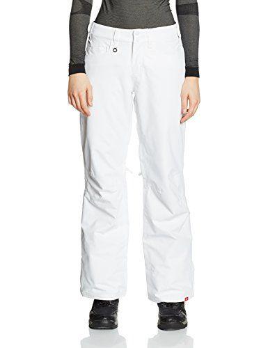 awesome Roxy Backyard Pantalon de Ski Femme, Bright White, FR : XL (Taille Fabricant : XL)