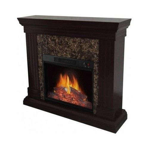 Electric Fireplace W Mantle Adjustable Flame Living Room Home Portable Heater Electric
