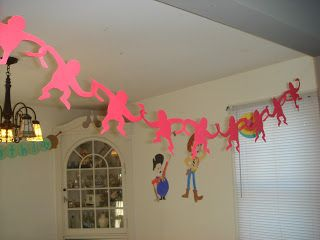 homemade Toy story monkey garland