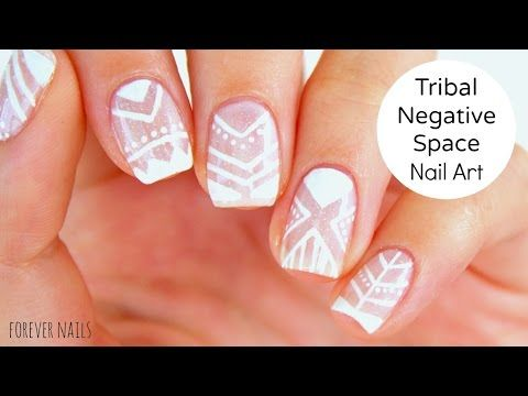 56 best wedding nail art ideas tutorials images on pinterest tribal negative space nail art promwedding nails tribal negative space nails prom prinsesfo Gallery
