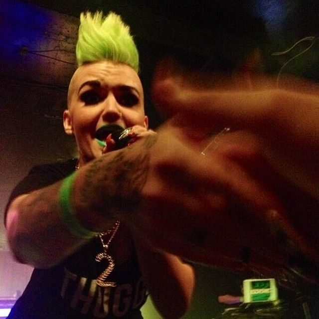 Pop-punk princess Eryn Woods is sporting a MANIC PANIC Electric Lizard mohawk on tour right now! www.erynwoodsmusic.com