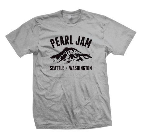 2015 Pearl Jam Snowcap Shirt Gray