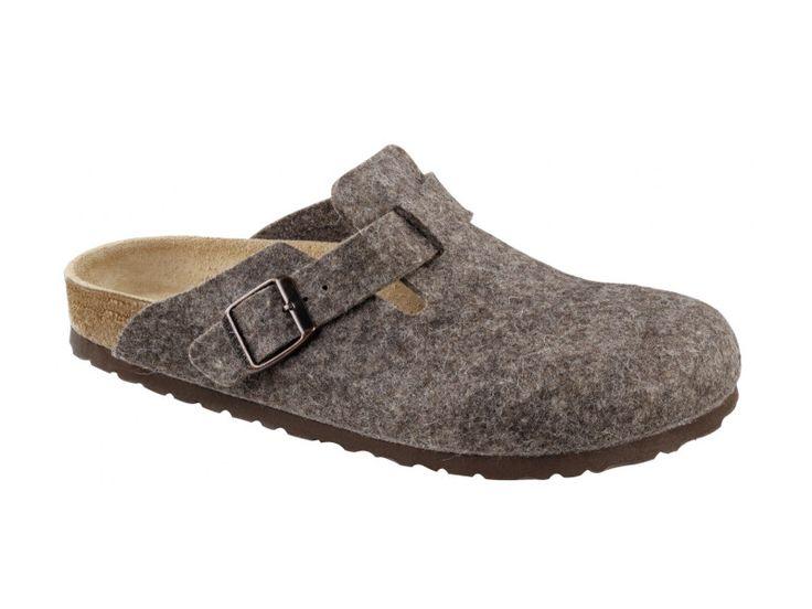 Birkenstock Boston Wool -Felt in Cocoa (Classic Footbed - Suede Lined)