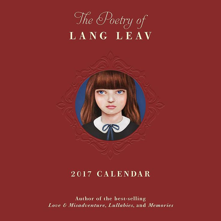 Lang Leav has a talent for translating complex emotions with astonishing simplicity. This 2017 Wall Calendar features thirteen poems selected from her best selling books and each interior page is embossed to elegantly frame the poem and grid.