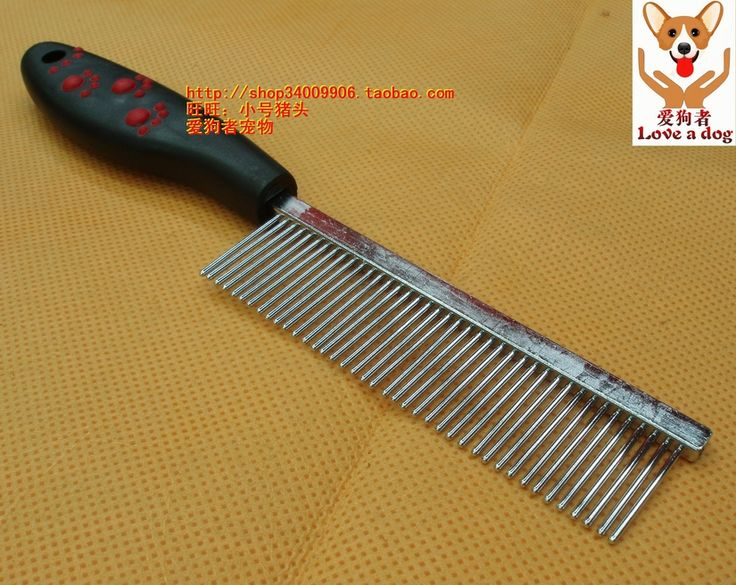 Пластиковая ручка собака хромированная нержавеющая сталь расчёска игла тип удлиняют ss040 5 шт. / много