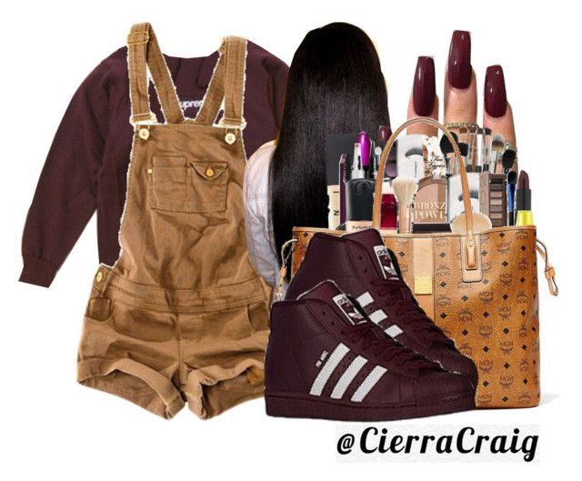 """""""9:44PM"""" by cierracraig ❤ liked on Polyvore featuring Pull&Bear, MCM and adidas"""