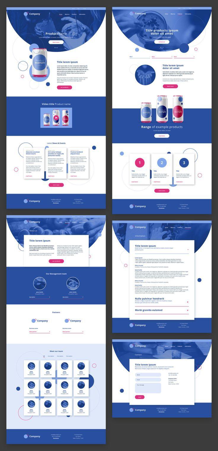 Website template blue website template ; websitevorlage