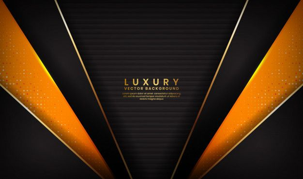 Abstract Luxury Black And Orange Background Orange Background Abstract Mandala Background