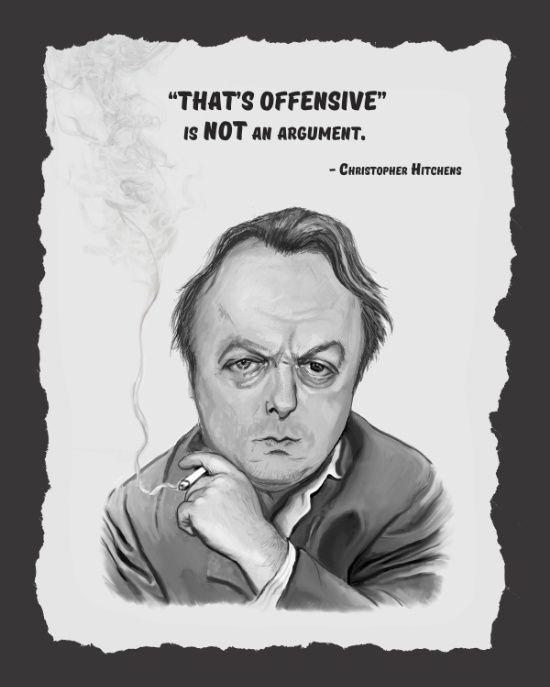 Christopher Hitchens Art Print by Petunchkin