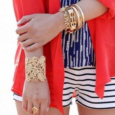 Nautical inspiration.: Bracelet, Fashion, Style, Red White Blue, Outfit, Jewelry, Accessories, Stella Dot