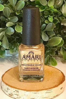 24K Gold Halal Nail Polish by Amari NY. Halal, vegan, cruelty free nail polish.