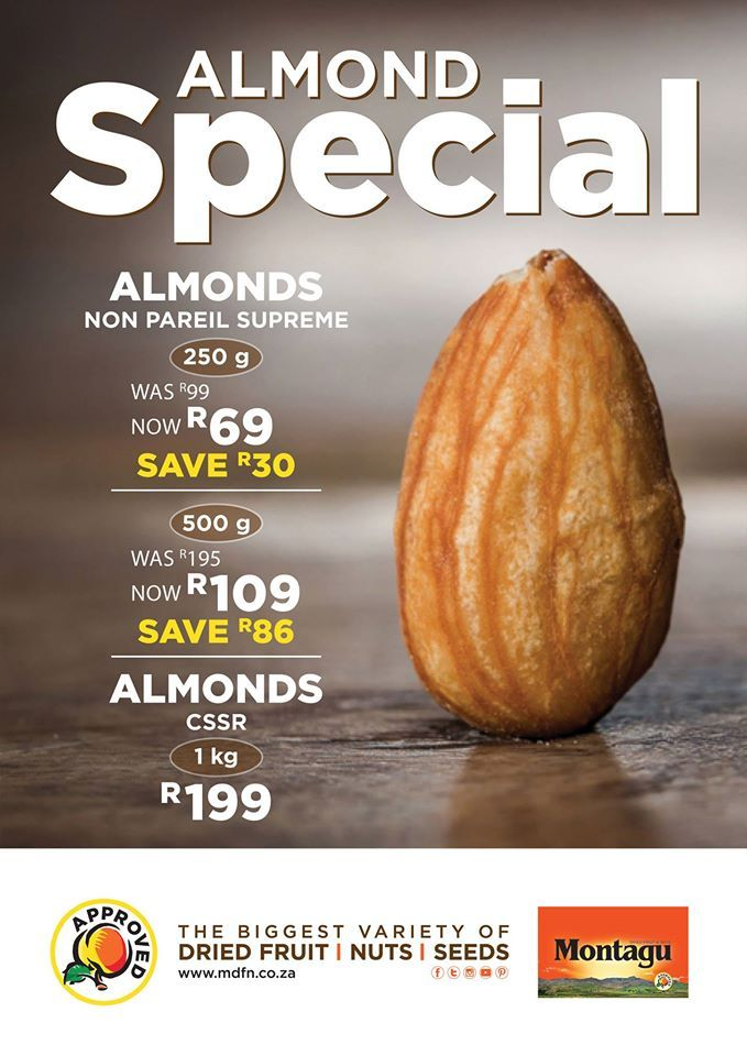 It's the weekend! And our customers are going absolutely NUTS over our in-store almond specials! :) Don't miss out on these great prices! Find your nearest store by clicking here: http://bit.ly/1TXrqDI