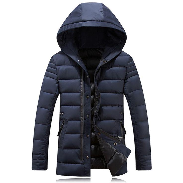 57.33$  Buy here - http://ali21y.worldwells.pw/go.php?t=32713336762 - Hot Sale Men's Winter Coats Mens Winter Jacket Men's Hooded Wadded Coats Outerwear Male Casual Cotton Outdoors Outwear Jackets 57.33$