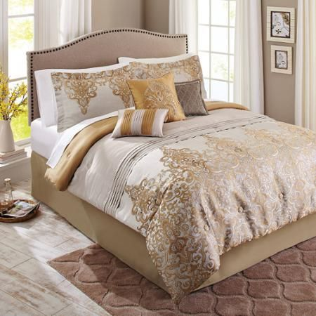 Best 25 Gold Comforter Set Ideas On Pinterest Black