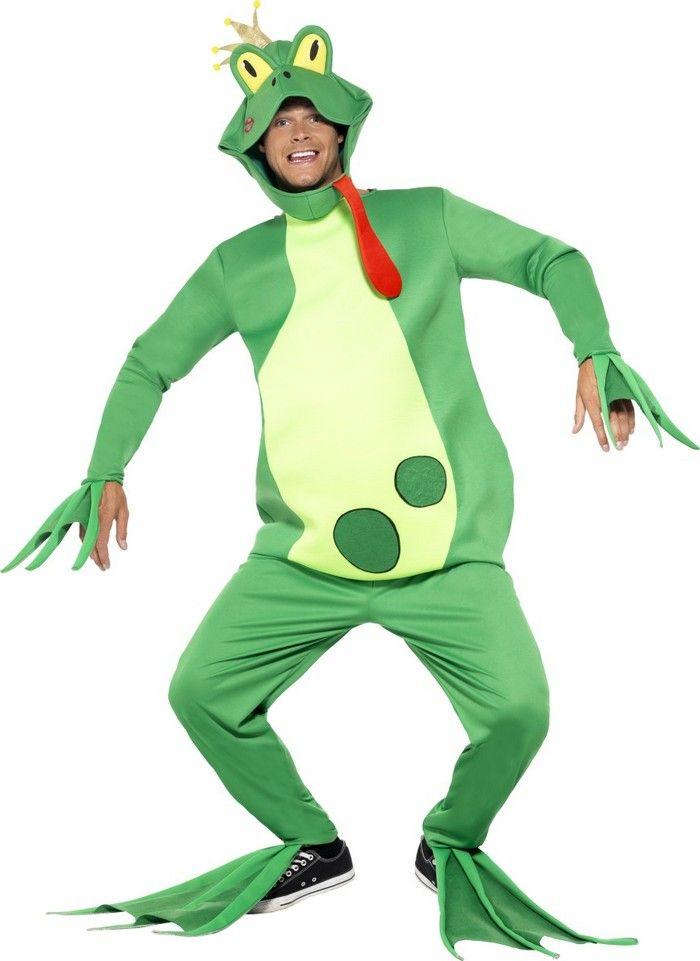 Ce costume de prince grenouille sera parfait pour partir à la recherche d'une belle princesse qui pourra annuler le mauvais sort qu'on vous a jeté par un simple baiser.