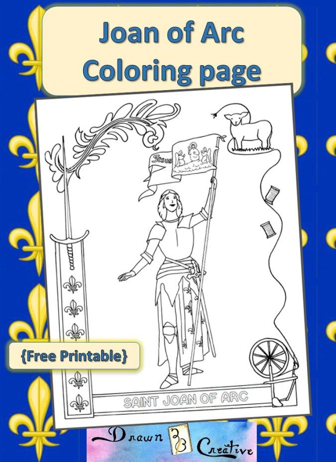 Saint Joan of Arc Coloring Page | Catholic Printables | Pinterest ...