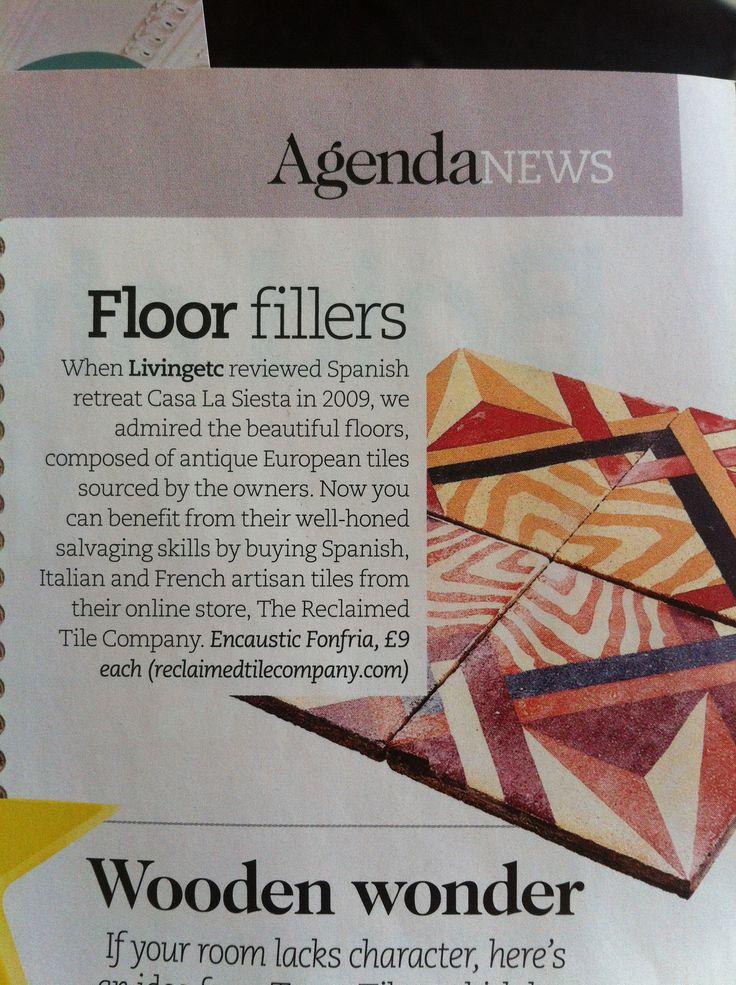 Reclaimed Spanish tiles from reclaimedtilecompany.com.