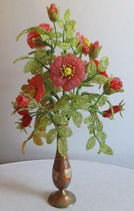 дополнение цветы из бисера фото шиповник славился динамичностью