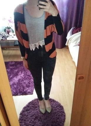 Kup mój przedmiot na #vintedpl http://www.vinted.pl/damska-odziez/kardigany/14280044-swietny-sweterek-w-pasy-kimono-nietoperz