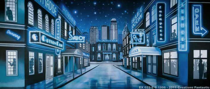 Jazz Club Street | Exteriors 20 ft x 45 ft Backdrop | New ...