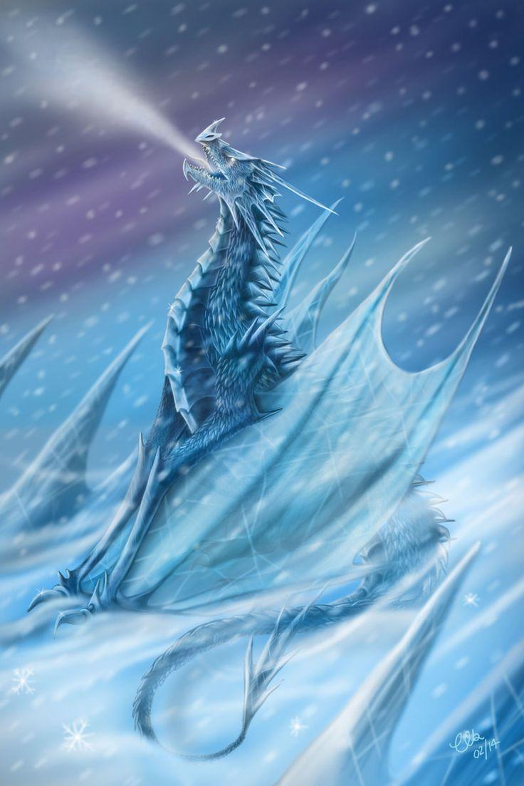 Frost Dragon: A Cold Encounter By CLB-Raveneye.deviantart.com On