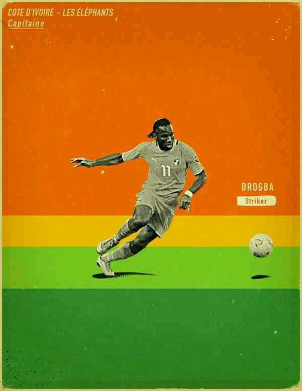 Didier Drogba of Ivory Coast wallpaper.