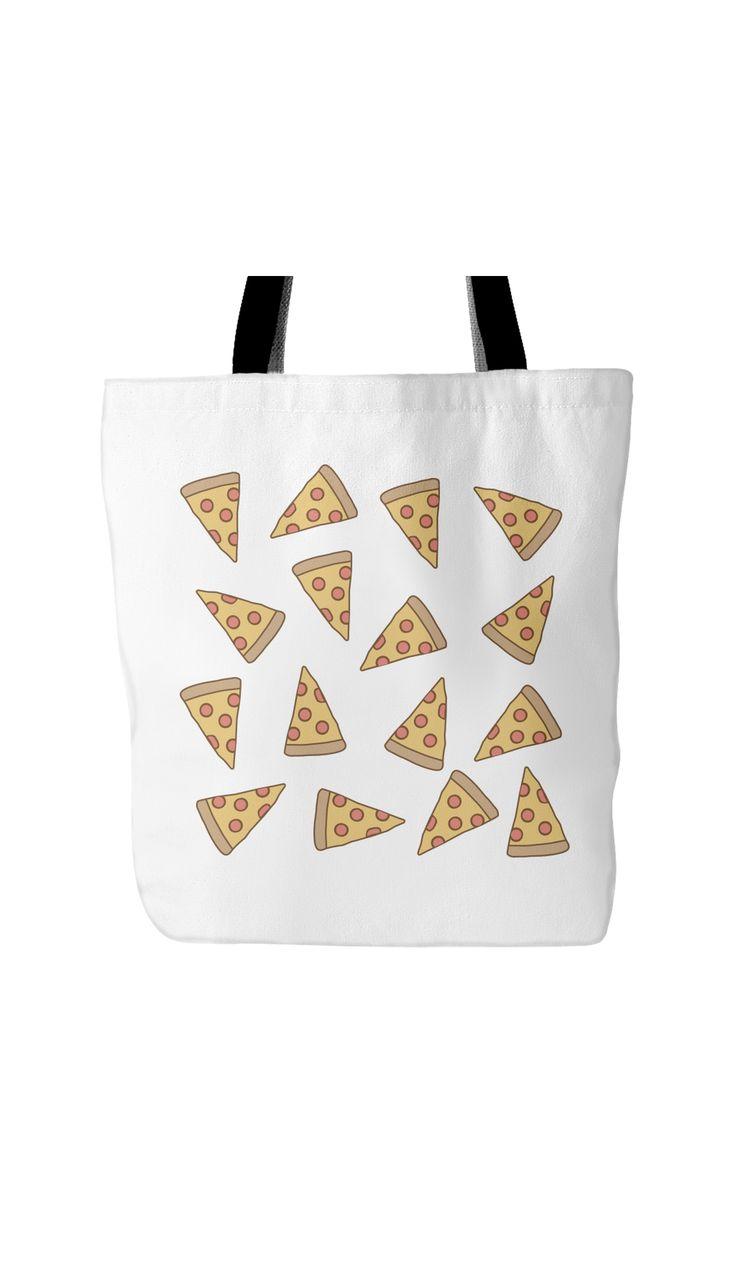 Pizza Emoji Tote Bag