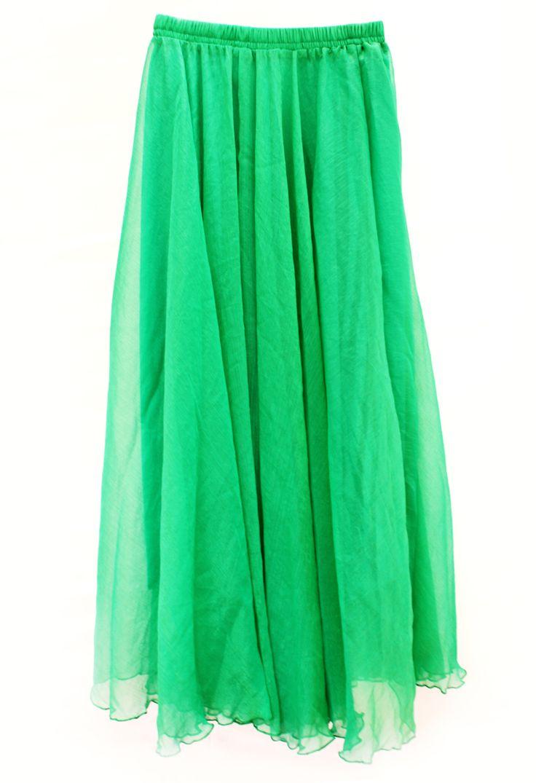 'Malachite' Bohemian Chiffon Maxi Skirt - stunning shimmery layer from VICTORS CROWN ONLINE