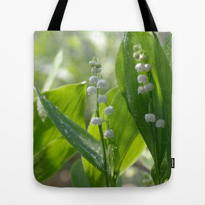 Lily of the valley Tote Bag by Tanja Riedel - $22.00