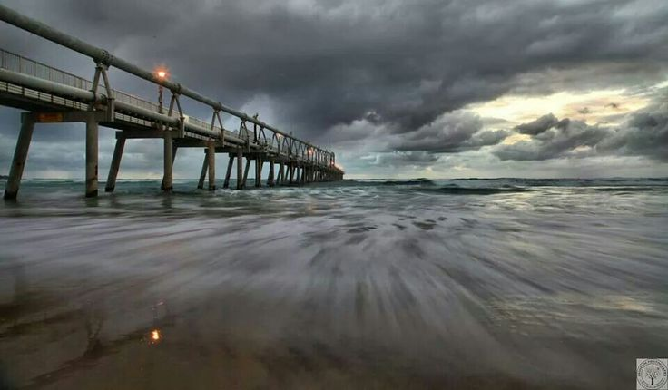 The Spit on a cloudy day.  Absolom Photography