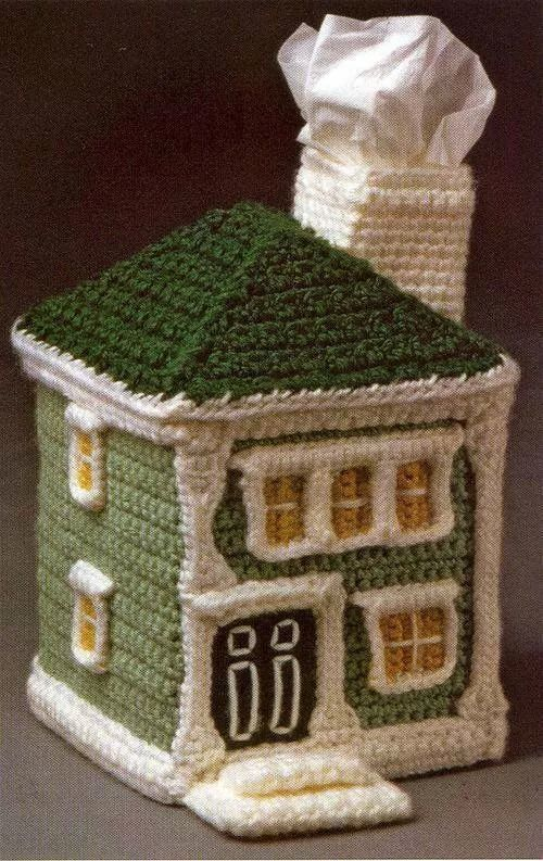 crochet house     the ugliest thing ever  I bet you are supposed to put it  on the back of the toilet. 23 best images about tissuedozen on Pinterest   Free pattern  Lego