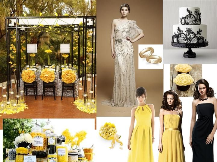 74 Best Images About Black Amp Yellow Wedding Theme On