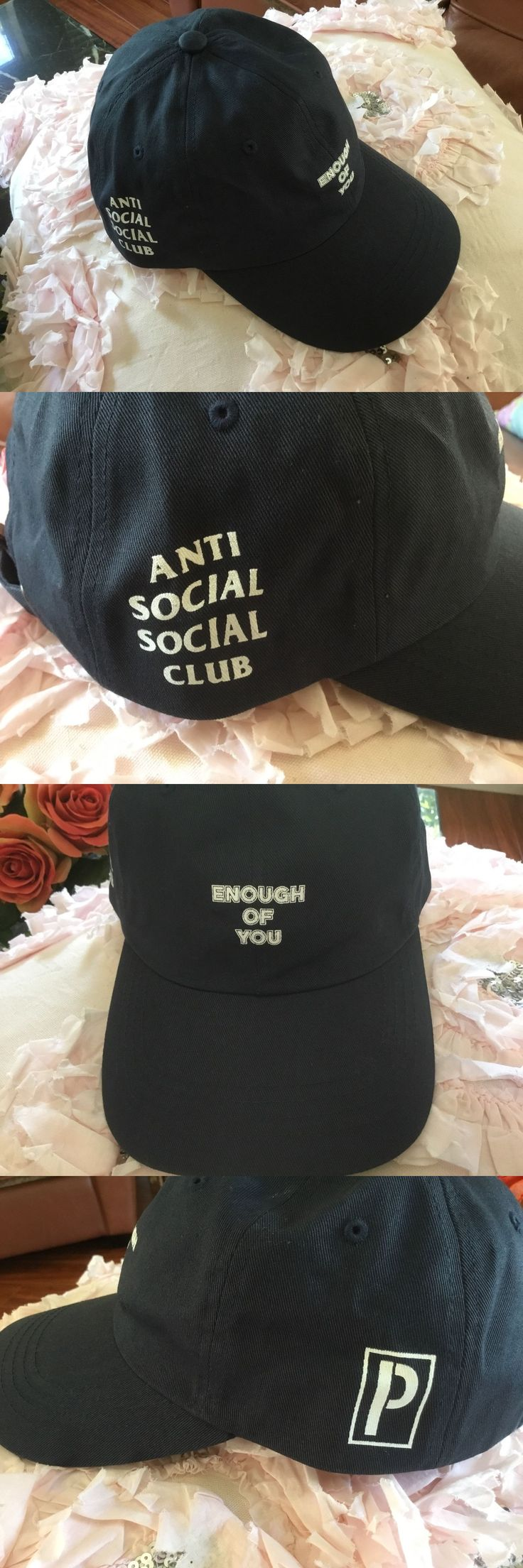 Hats 163543: New Anti Social Club Enough Of You Limited Edition Hat,Nave Blue, Adjustable -> BUY IT NOW ONLY: $99.99 on eBay!