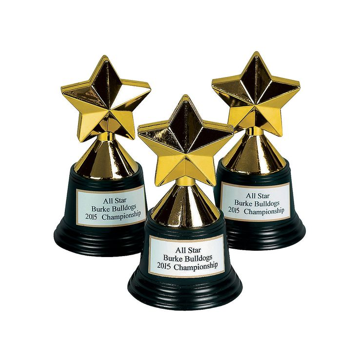 Personalized Star Trophies - OrientalTrading.com $12.00 for 12