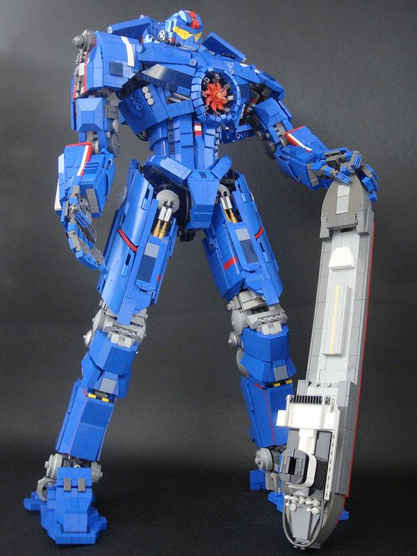 Looks like a Lego Gypsy Danger from Pacific Rim