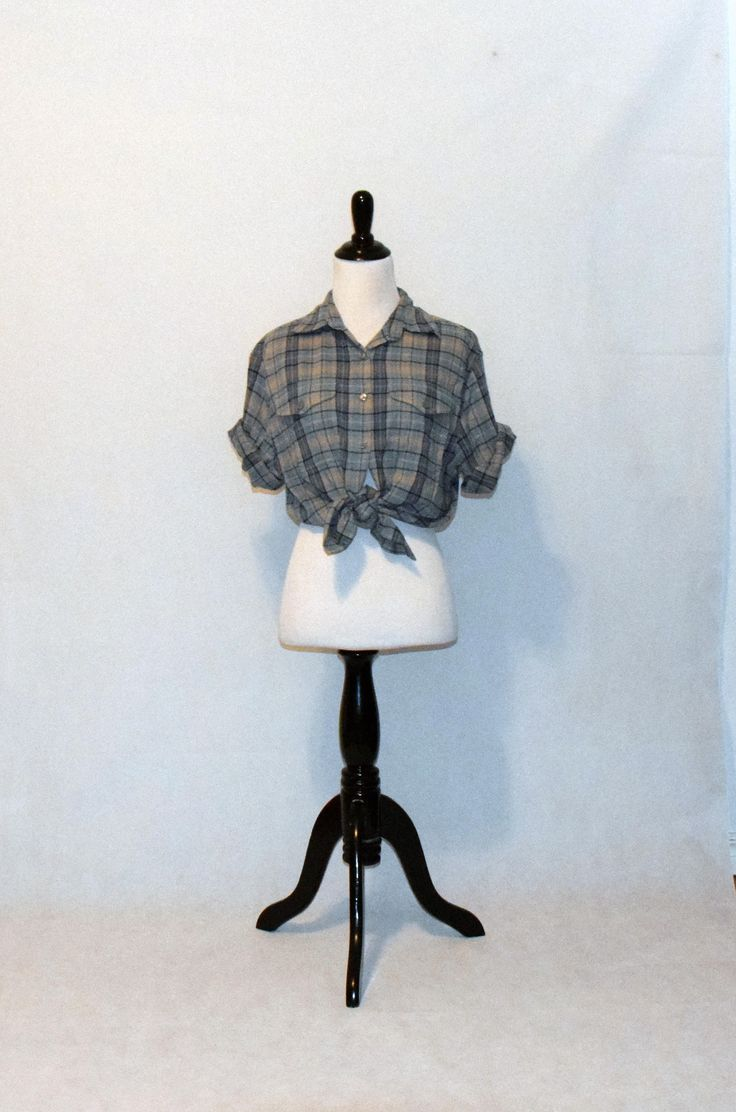 Excited to share the latest addition to my #etsy shop: Blue and Tan Plaid Short Sleeve Flannel / Vintage Women's Clothing / Size Small Button-Up / Apparenza / http://etsy.me/2DFFzBk #clothing #women #blouse #blue #beige #s #bluetan #plaidflannel #womenssmall