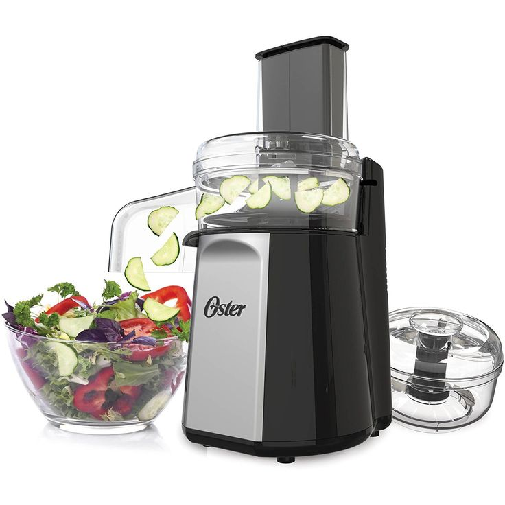 Oster Oskar 2-in-1 Salad Prep & Food Processor, Black FPSTFP4050