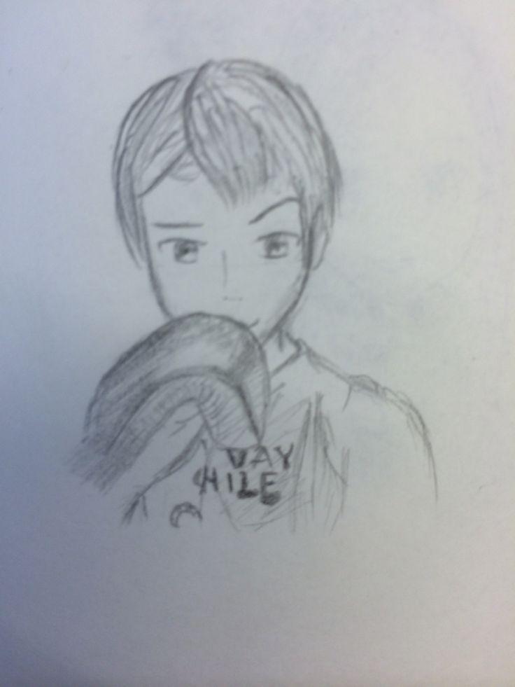 Manga boy, shounen, muay thai, drawing