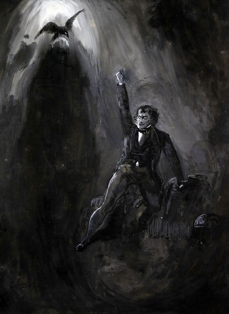 """the meanings of edgar allan poes the raven The raven, by edgar allan poe last update: april 11, 2016 navigation: main menu poe's works editorial  no """"meaning,"""" as they express it, in the poem these ."""
