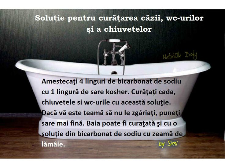 Soluţie pentru curăţarea căzii, wc-urilor şi a chiuvetelor