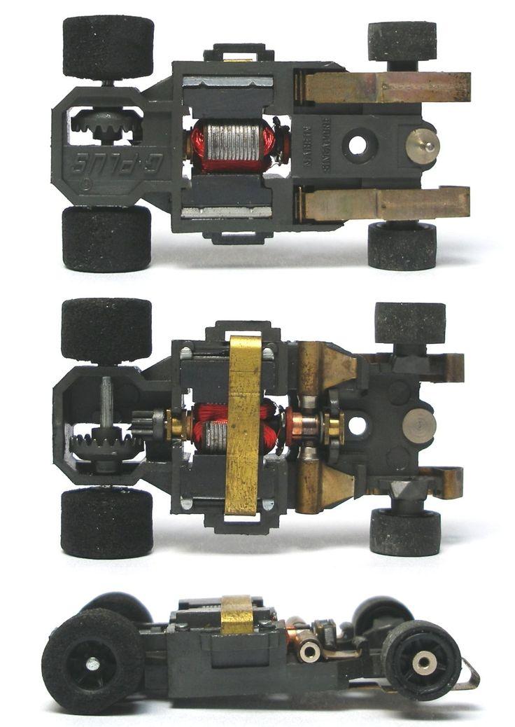 1982 Aurora AFX G G Plus HO Slot Car Black Wheel Wide Chassis Bench Tested A | eBay