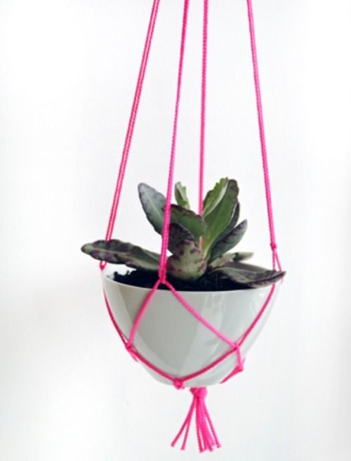 brick house: Ideas, Plant Hangers, Craft, Holiday Gift, Plant Holders, Diy'S, Hanging Plants, Hanging Planters, Garden